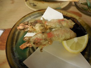 穴蝦蛄の天ぷら