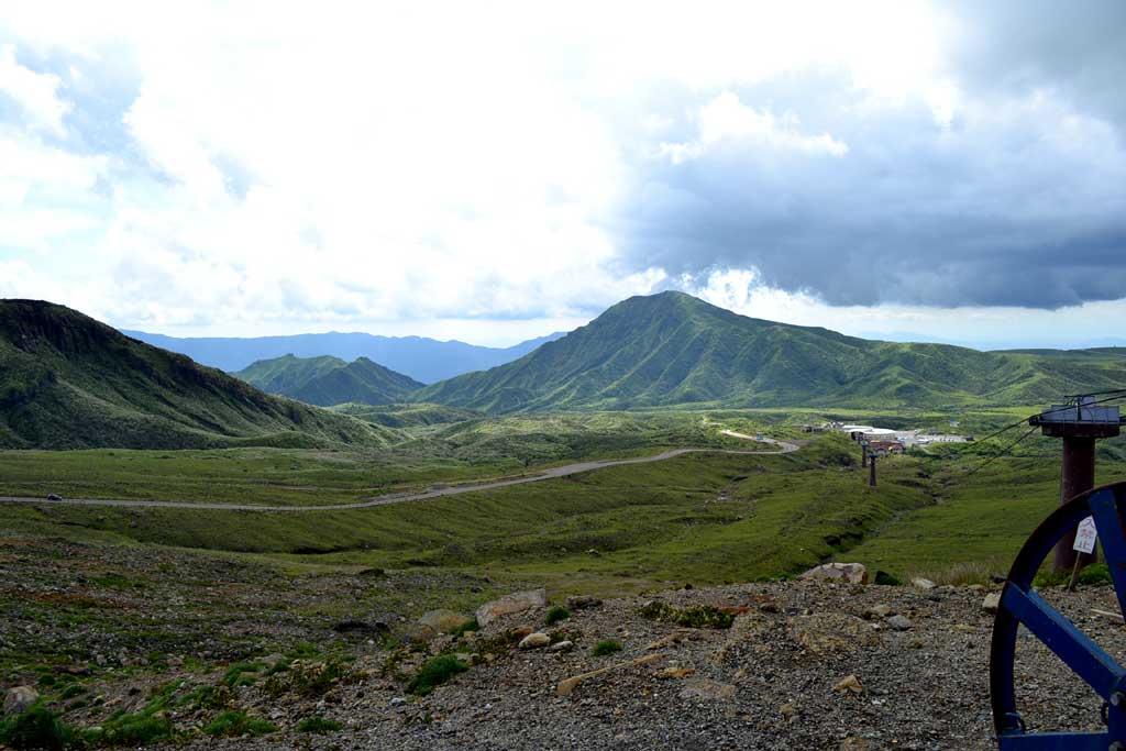 阿蘇山頂より草千里