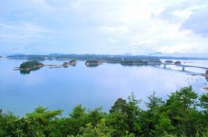 天草松島の展望台から