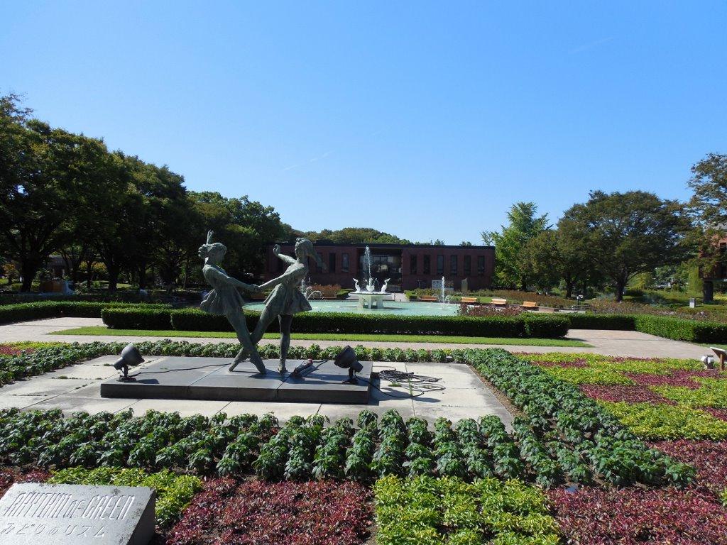 石橋美術館、文化センター庭園。