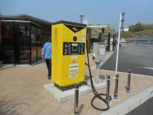 パヴァリエ エコエリア山田 電気自動車の充電施設も完備されています。