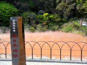 別府を代表する血の池地獄